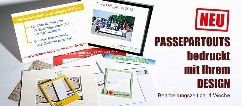 d7682a004f4421 Passepartouts bedruckt mit Ihrem Design